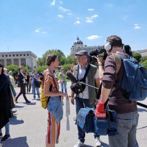 Paula im Interview mit dem ORF über Dinge die sie im Alltag für die Umwelt tut